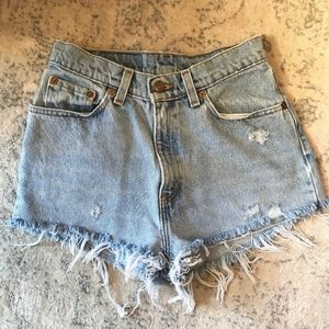 Levi Cut Off Denim Shorts | Size XS